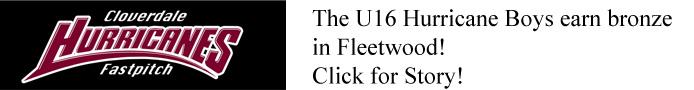 Huricanes U16 fleetwood bronze banner