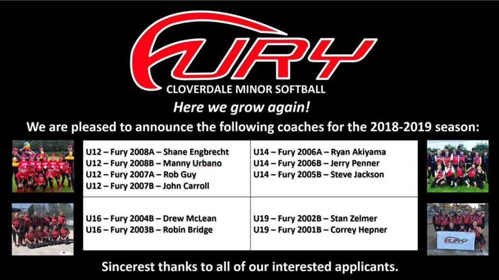 Coaches announcement for 2019 season